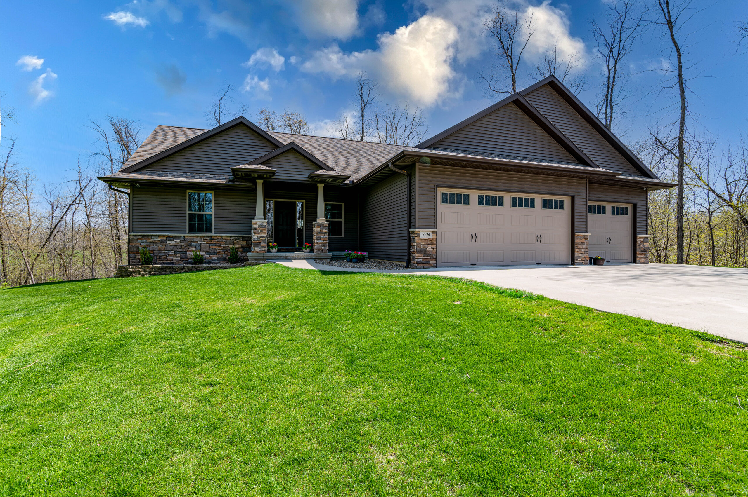 Gorgeous move in ready home off hard surface road!